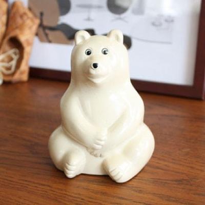 【即日から翌営業日発送】【正規品】 Polar Bear Money Box しろくま貯金箱 |白くま貯金箱 シロクマ貯金箱 フィンランド ちょきんばこ PLASTEP Nordea Bank MK Tresmer MKTresmer プレゼント ギフト 雑貨 熊 おしゃれ クローネ 貯金箱