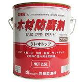 【あす楽対応・送料無料】吉田製油所油性木材防腐剤クレオトップ2.5Lブラウン