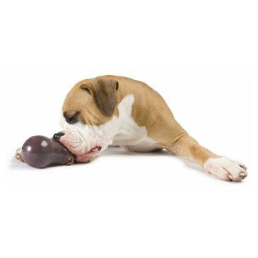 穴にトリーツを入れて遊ぶことも Planet Dog プラネット・ドッグ オービータフ・フルーツ&ベジ エッグプラント【犬/おもちゃ/ゴム/頑丈/噛む/中型犬/大型犬】