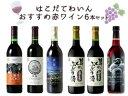 はこだてわいんおすすめ赤ワイン6本セット北海道 函館 ワイン セット送料無料 女子会 プレゼント ギフト【店長のプレゼント対象外】