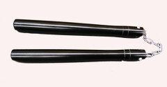 空手武器術黒丸ヌンチャク鎖式/紐式 専用袋付き