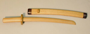 鞘付き木刀抜き身小刀