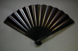 鉄扇8寸黒