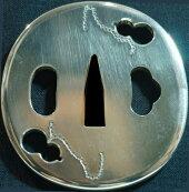 純銀製二個瓢箪柄鍔