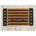 ココナツ/玄関マットココナツ コイヤー 玄関 マット 長方形 アメリカンフラッグ 星条旗