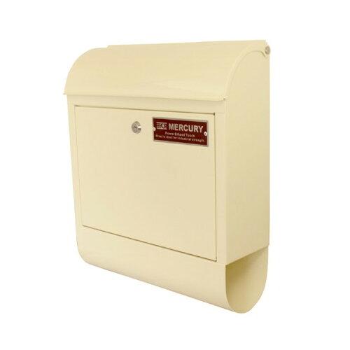 MERCURY マーキュリー MCR Mail Box 郵便ポスト メールボックス 郵便受け 鍵付き C062 アイボリー ...