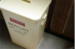 MERCURYマーキュリースクエアダストビンブリキ製ゴミ箱OLIVEGEEENオリーブグリーン