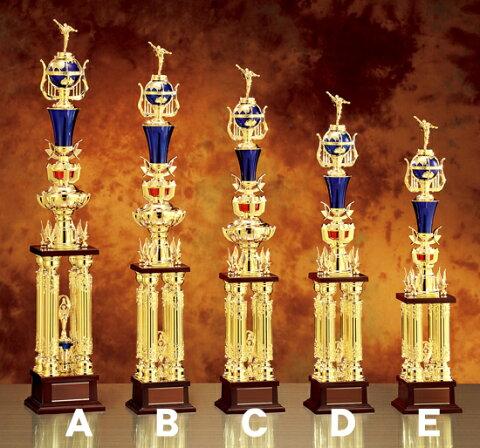 トロフィーC/740mm/TR-2340C/人形の飾りが選べます/#B 15永年勤続/表彰式/周年記念/大会/イベント/ゴルフ/野球/サッカー/マラソン/運動会/創立記念/退職祝い/