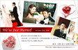 結婚報告はがき(結婚報告ハガキ) おしゃれな写真入りデザインポストカード! WK020【30枚印刷】年賀状・暑中見舞いにも