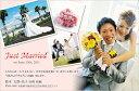 ★期間限定★【レビューを書いて】送料無料!結婚報告ハガキ(結婚報告はがき)おしゃれな写真...