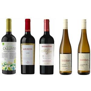 ブルガリア&ドイツ赤白5本セット【送料無料】★ワイン/セット/赤ワイン/白ワイン/ブルガリアワイン/ドイツワイン/フルボディ/750ml