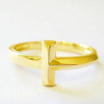 指輪リングk18K18TモチーフT字18金ゴールドピンクゴールドホワイトゴールドペアリングお揃いレディースアクセジュエリー