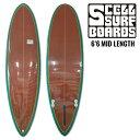 SCELL ミッドレングス 6'6 BR レトロ   オルタナティブ   サーフボード   サーフィン   ファンボード 希望小売価格の64%OFF