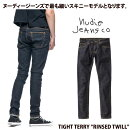 NudieJeansヌーディージーンズTIGHTTERRYタイトテリーRINSEDTWILLL30