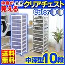 スーパークリアチェスト SCE-1000 ホワイト/クリアブラウン・ホ...