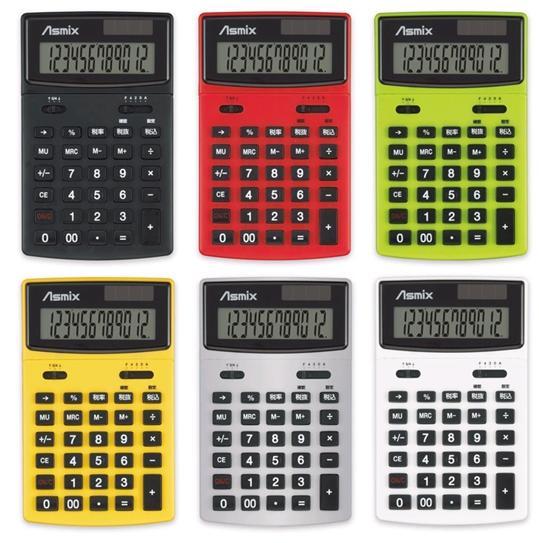 アスカ『男電卓 カラー C1235BK ブラック』