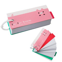 Buhi Buhi Butatan しおり付き単語カード ピンク 32419