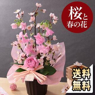 桜フラワーアレンジメント
