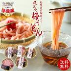 丸ざる入 冷し梅うどんセット(大盛り5人前)ボリューム満点麺大盛り150g、低塩梅干、めんつゆ、ざる付うどん日本一選手権