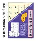 写し書き梅雪かな手本【墨運堂】