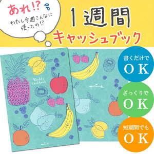 A5サイズ!日本ホールマーク/1週間キャッシュブック フルーツ(EFK-725-105)気軽に始められる1週間単位のキャッシュブックです!家計簿 EFK725105 hallmark