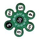 ★児童用★トモエそろばん ジャマイカ 緑 (JAMAG) 黒いサイコロの数字の合計を5つの白いサ...