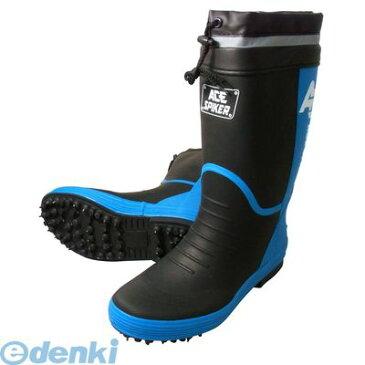 喜多(KITA) [4931530562439] ブラック L【25.5〜26.0】 スパイクゴム長靴【カバー付】 KR7200