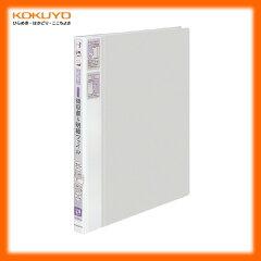 【A4縦型】KOKUYO/領収書&明細ファイル<かたづけファイル> ラ-YR510M グレー 24ポケット...
