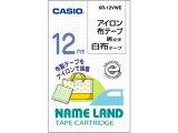 カシオ/アイロン布テープ(白布/黒文字) 幅12mm/XR-12VWE