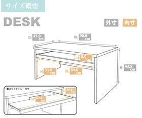 パソコンデスク2点セットロータイプMPL-120ブラックホワイト【TD】【HT】