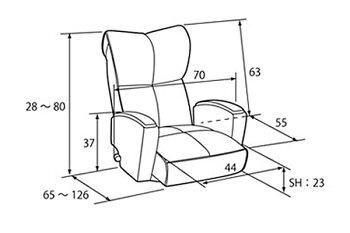 【送料無料】肘付本革座椅子-風雅-【MT】【TD】アイボリーブラウングリーンブラックYS-P1370HR(座椅子座イス椅子本革リクライニングチェアー)