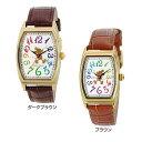 【B】ディズニー 本皮ベルトウォッチ WD-D04-MK腕時計 時計 とけい アナログ 腕時計とけい 腕時計アナログ 時計とけい とけい腕時計 アナログ腕時計 とけい時計 サン・フレイム ダークブラウン・ブラウン【D】 【MAIL】【代金引換/後払い決済不可/日時指定不可】
