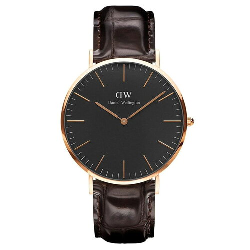 Daniel Wellington 40mm Rose Gold Classic Black York DW00100128送料無料 時計 腕時計 アナログ ...