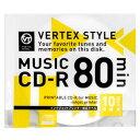 音楽用CD-R 10CDRA80VX.WPシーディー ディスク 録音 記録 10 vertex 【TC】