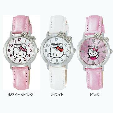 シチズンQ&Qウォッチ 0001N001・002・003腕時計 時計 HELLO KITTY ハローキティ レディース 防水 シチズンQ&Q ホワイト×ピンク・ホワイト・ピンク【D】