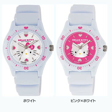 シチズンQ&Qウォッチ 0027N001・002腕時計 時計 HELLO KITTY ハローキティ 防水 シチズンQ&Q ホワイト・ピンク×ホワイト【D】
