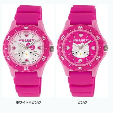 シチズンQ&Qウォッチ 0029N001・002腕時計 時計 HELLO KITTY ハローキティ 防水 シチズンQ&Q ホワイト×ピンク・ピンク【D】