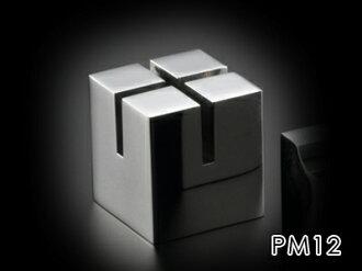達到不銹鋼的極限對你用高級的桌面附件最大的質量的PRIMARIO Vestige鎮紙立方體(加)PM12