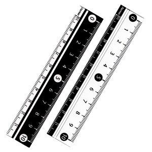 【メール便対応】白黒定規10cm