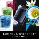 ハンディ顕微鏡 petit グリーン 小型顕微鏡 ルーペ 顕...