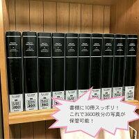 ナカバヤシアルバム黒台紙60枚L判360枚パノラマ・KG判120枚収納フォトグラフィリアブルーPHL-1036-B