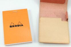 【名入れ無料】ロディアRHODIANo.11専用BTレザーカバー(ポケット付)【メモ帳】【デザイン文具】【デザインおしゃれ】【輸入海外】