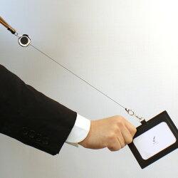 【名入れ無料】和気文具オリジナルIDカードホルダーIDカードケースネックストラップリール付本革IDカードホルダーギフト父の日ギフト