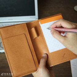 【名入れ無料】和気文具オリジナルロディアカバーNo.11専用ロディアカバーレザーギフトロディアケース