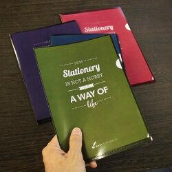 文房具の和気文具オリジナルファイル4色セットクリアファイル