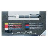 ぺんてる Pentel スーパーマルチ8セット PH803ST 8色芯ホルダー・替芯・芯研器セット 【8色鉛筆芯シャープペン】【Multi8】