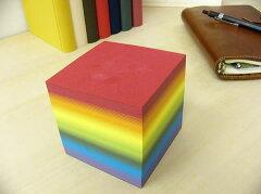 美篶堂 虹色ブロックメモ 【文房具ならワキ文具】【デザイン文具】