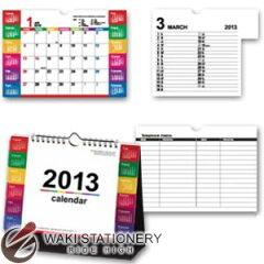 新日本カレンダー 2013年 卓上カレンダー カラーインデックス 大 NK-8541 【文房具ならワキ文具】