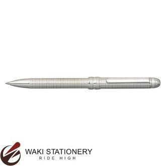 白金鋼筆DOUBLE 3 ACTION活動鉛筆0.5+油性原子筆黑+紅斯特林銀子製造共牛MWB-10000SA#4[MWB-10000SA][活動鉛筆][活動鉛筆原子筆多功能筆]