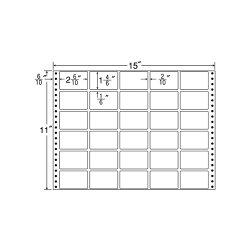 ナナフォームナナフォーム連続ラベルMタイプ15×11インチ30面(500折)MT15B